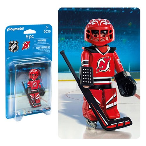 Playmobil 9036 NHL New Jersey Devils Goalie Action Figure