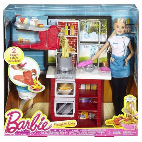 Barbie Spaghetti Chef Caucasian Doll and Playset