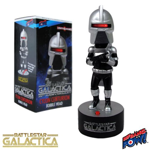 Battlestar Galactica Cylon Centurion Bobble Head with Lights and Sound
