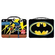 Batman 2020 Large Carry All Tin Tote Lunch Box Set