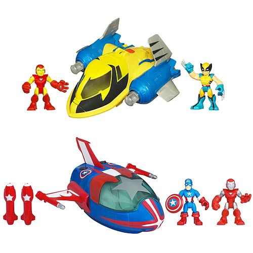 Marvel Super Hero Adventures Deluxe Vehicles Wave 2