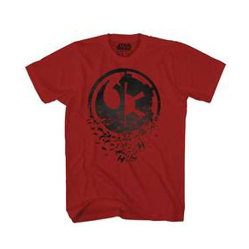 Star Wars Duel Side Black Foil Cardinal Red T-Shirt - Previews Exclusive