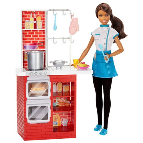 Barbie Spaghetti Chef African American Doll and Playset