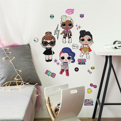 LOL Surprise! Rock Star Peel and Stick Wall Decal