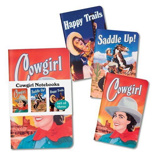 Cowgirl Notebook 3 Set