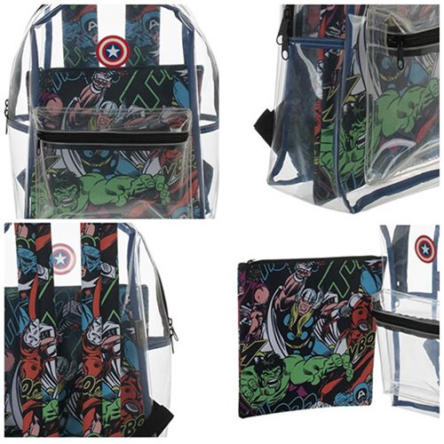 Captain America Clear Backpack with Pouch