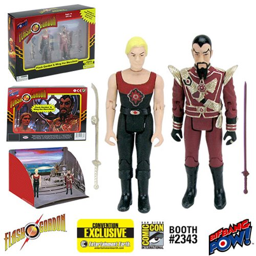 Flash Gordon and Ming Hawk City Scene 3 3/4-Inch Action Figure Set - Convention Exclusive