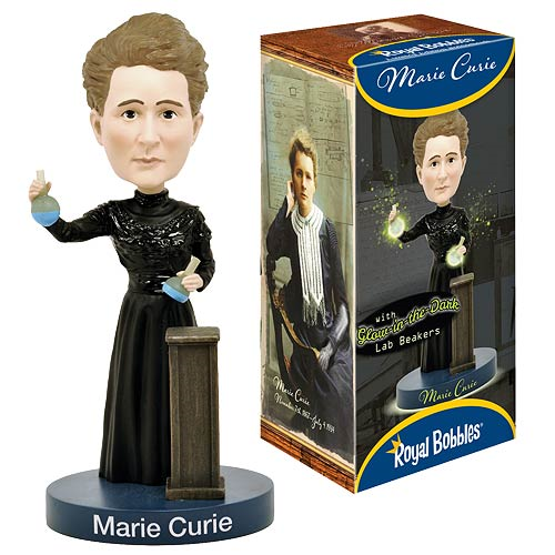 Marie Curie Glow in the Dark Bobble Head
