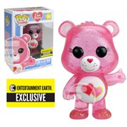 Care Bears Glitter Love-a-Lot Bear Pop! Vinyl Figure #354 - Entertainment Earth Exclusive