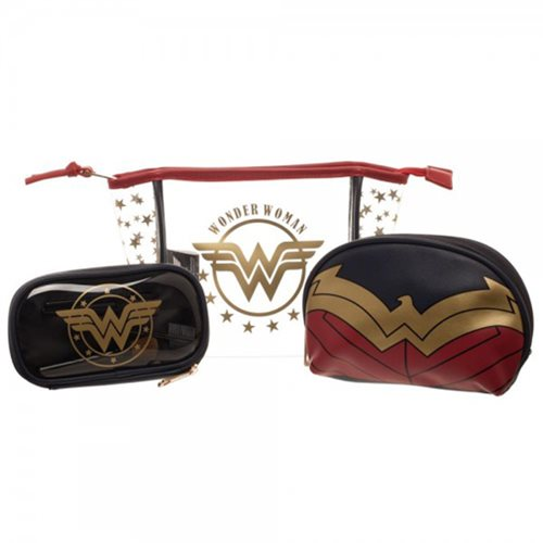 Wonder Woman Juniors Cosmetic Bag 3-Pack Set
