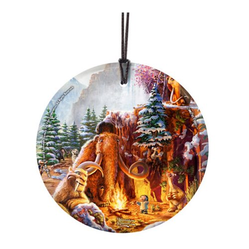 Ice Age Thomas Kinkade Starfire Prints Hanging Glass Ornament