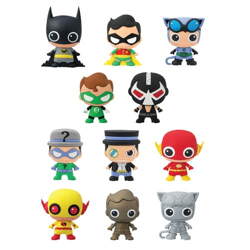 DC Comics 3-D Series 2 Figural Key Chain 6-Pack
