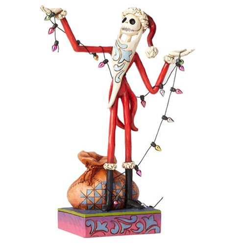 Disney Traditions Nightmare Before Christmas Santa Jack with Christmas Wrapped Up in Christmas Spirit Statue