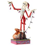 Disney Traditions NBX Santa Jack with Christmas Statue