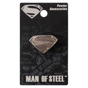Superman Man of Steel Logo Pewter Lapel Pin