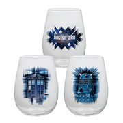 Doctor Who 18 oz. Glass Contour 2-Pack Set