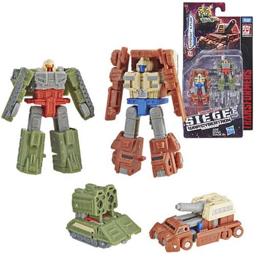 Transformers Generations War for Cybertron: Siege Micromasters Autobot Battle Patrol Flask and Bigshot