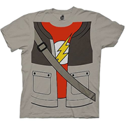 Big Bang Theory Sheldon Trompe Loeil Tan T-Shirt