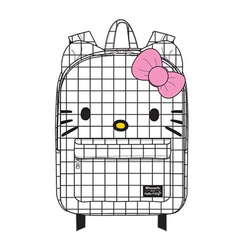Hello Kitty Graph Lines Nylon Backpack