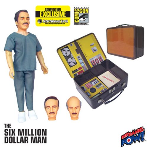 Six Million Dollar Man Dr. Rudy Wells with Tin Tote - Convention Exclusive