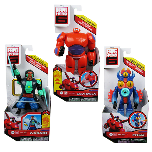 Big Hero 6 Marvel 6-Inch Action Figure Set