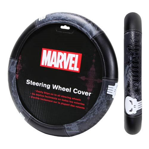 punisher marvel steering wheel cover - Nightmare Before Christmas Steering Wheel Cover