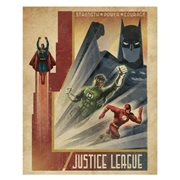 Justice League Strength Power Courage Vintage Art Canvas Print