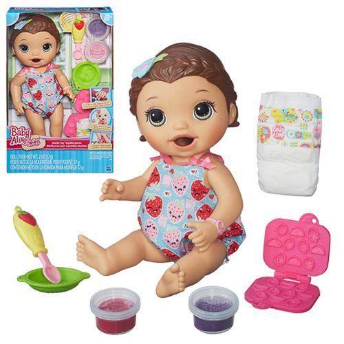 Baby Alive Super Snacks Snackin Lily Doll Brunette