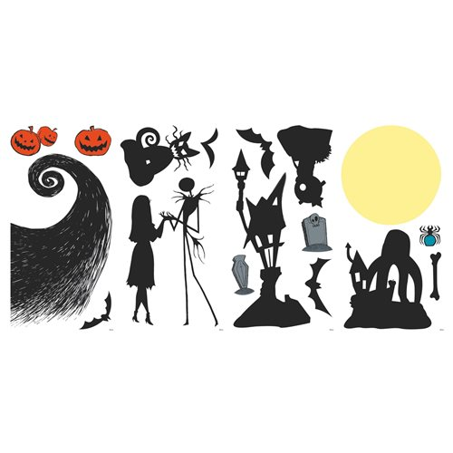 Nightmare Before Christmas Silhouette Peel and Stick Wall Decals