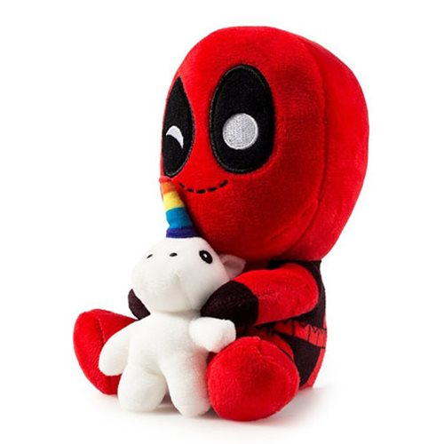 Deadpool with Unicorn HugMe Plush