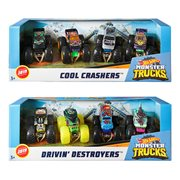 Hot Wheels Monster Trucks 1:64 Scale Mix 1 4-Pk Case
