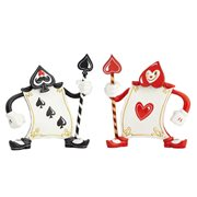 Disney The World of Miss Mindy Alice in Wonderland  Ace of Hearts and 3 of Spades Card Set Statue