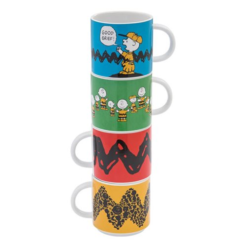 Peanuts Stacking Ceramic Mug 4-Pack Set