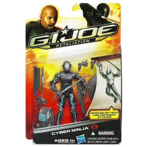 G.I. Joe Retaliation Cyber Ninja Action Figure, Not Mint