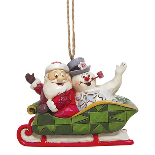 Frosty the Snowman and Santa In Sleigh by Jim Shore Ornament