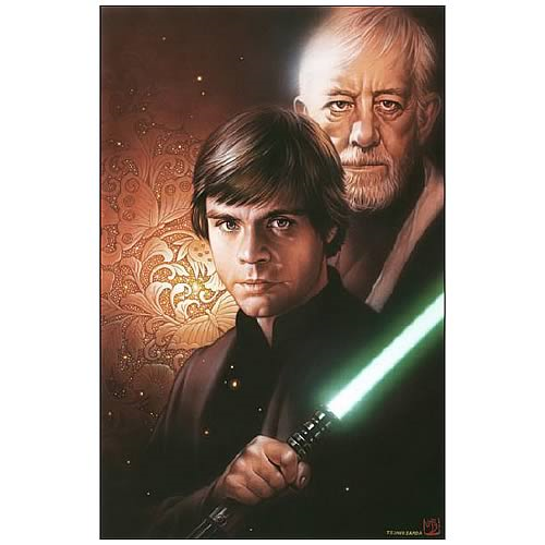 Star Wars With You: Luke Skywalker & Obi-Wan Kenobi Giclee