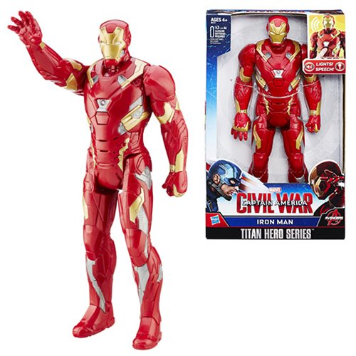 Captain America Civil War Iron Man Electronic Titan Hero Talking 12-Inch Action Figure