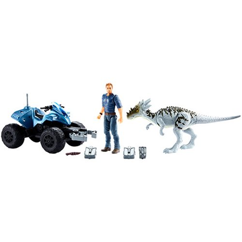 Jurassic World Deluxe Storypack Action Figure with Vehicle Case