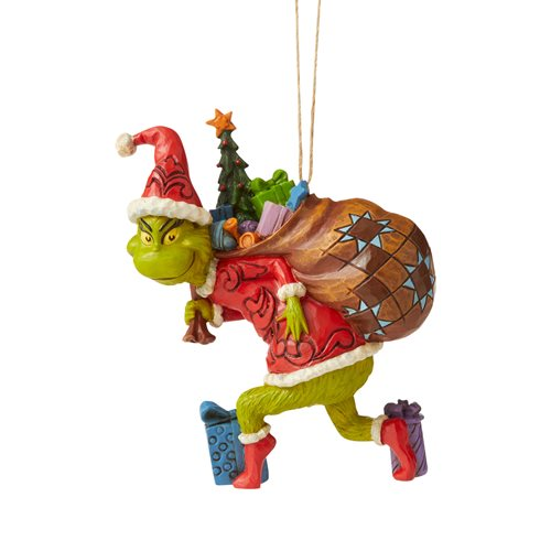 Dr. Seuss The Grinch Tiptoeing Ornament by Jim Shore