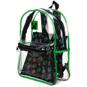 Minecraft Creeper Clear Backpack with Removable Pouch