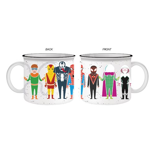 Spider-Man Character Line Up 20 oz. Ceramic Camper Mug