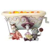 Disney Traditions Nightmare Before Christmas Lock Shock Barrel Candy Dish Tricksters and Treats Statue by Jim Shore