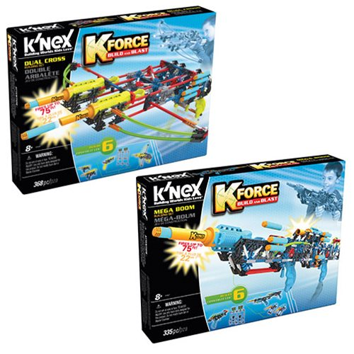 K'NEX K-Force Dual Cross and Mega Boom Building Set Case