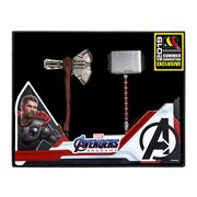 Avengers: Endgame Thor Hammer and Stormbreaker Pewter Key Chain Set - D23 2019 Convention Exclusive