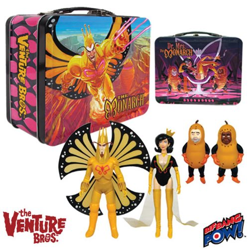 The Venture Bros. Death's Head Monarch & Dr. Mrs. The Monarch 8-Inch Figures in Tin Tote Gift Set - Convention Exclusive