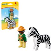 Playmobil 9257 1.2.3 Ranger with Zebra
