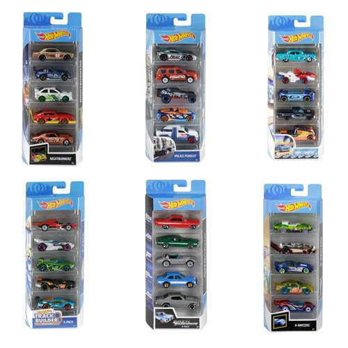 Hot Wheels 2020 5-Car Pack Wave 5 Case