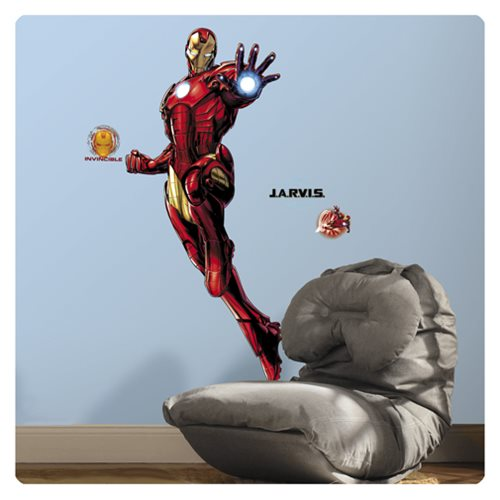 Iron Man Peel and Stick Glow-in-the-Dark Giant Wall Decal