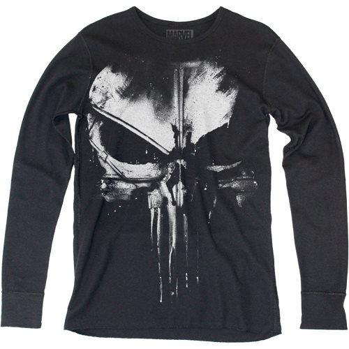 Daredevil Distressed Punisher Long Sleeve Thermal Shirt