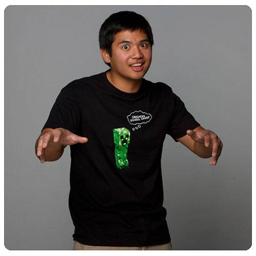 Minecraft Creepers Gonna Creep Black T-Shirt